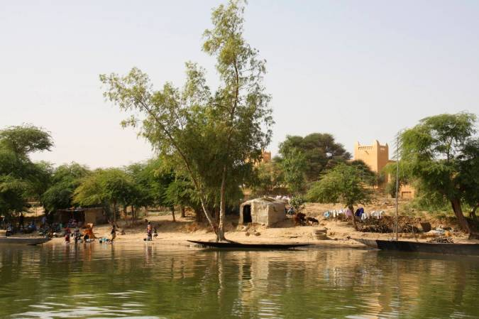 Niafunké from the Niger River, Mali, Africa