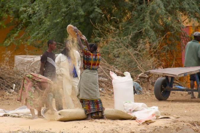 The Niger River port of Tonka, Mali, Africa