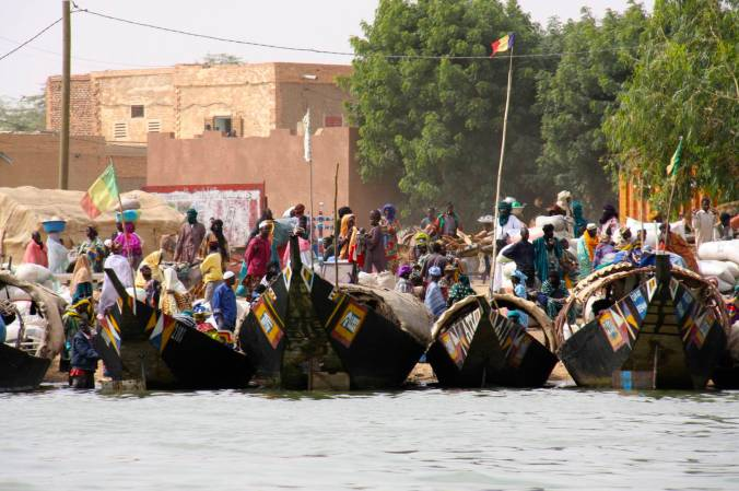 The Niger River port of Tonka, Mali, Africa