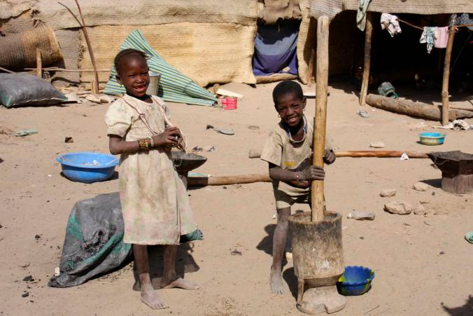 Children in the street, Timbuktu, Mali, Africa