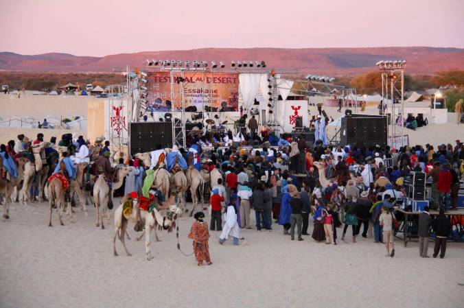 Main stage at the Festival au Désert, Mali, Africa