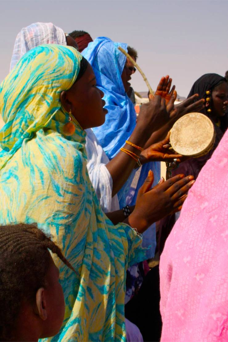 Musicians perform at the Festival au Désert, Mali, Africa