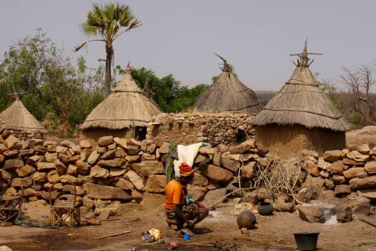 A woman in Djiguibombo, Dogon Country, Mali, Africa