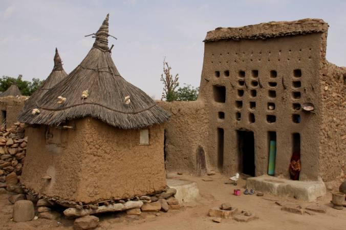 The house of a village elder, Djiguibombo, Dogon Country, Mali, Africa