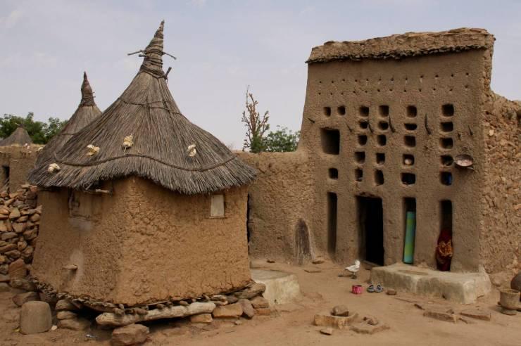 The house of a village elder, Djiguibombo, Dogon Country, Mali, Africa