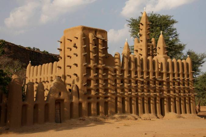 Mosque in a Dogon village, Dogon Country, Mali, Africa