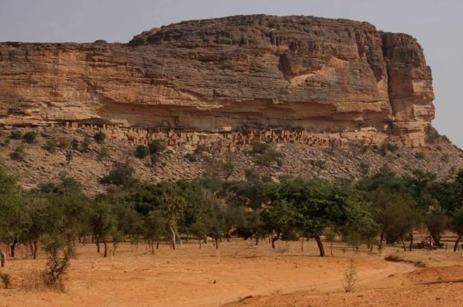 Tellem dwellings, Teli, Dogon Country, Mali, Africa