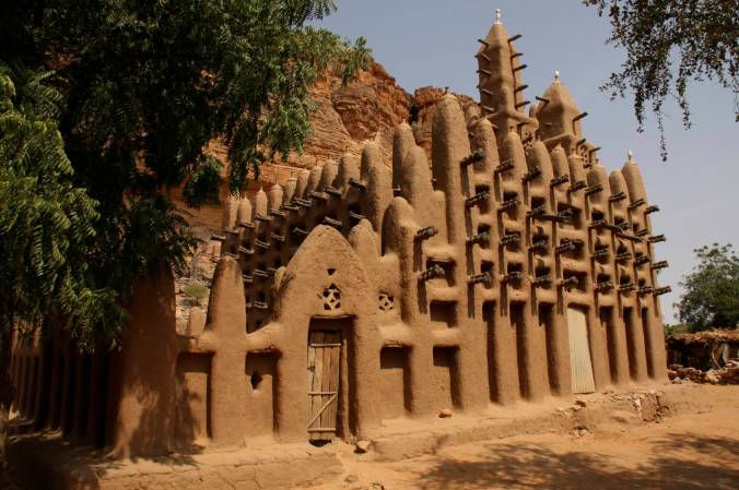 Mosque, Enndé, Dogon Country, Mali, Africa