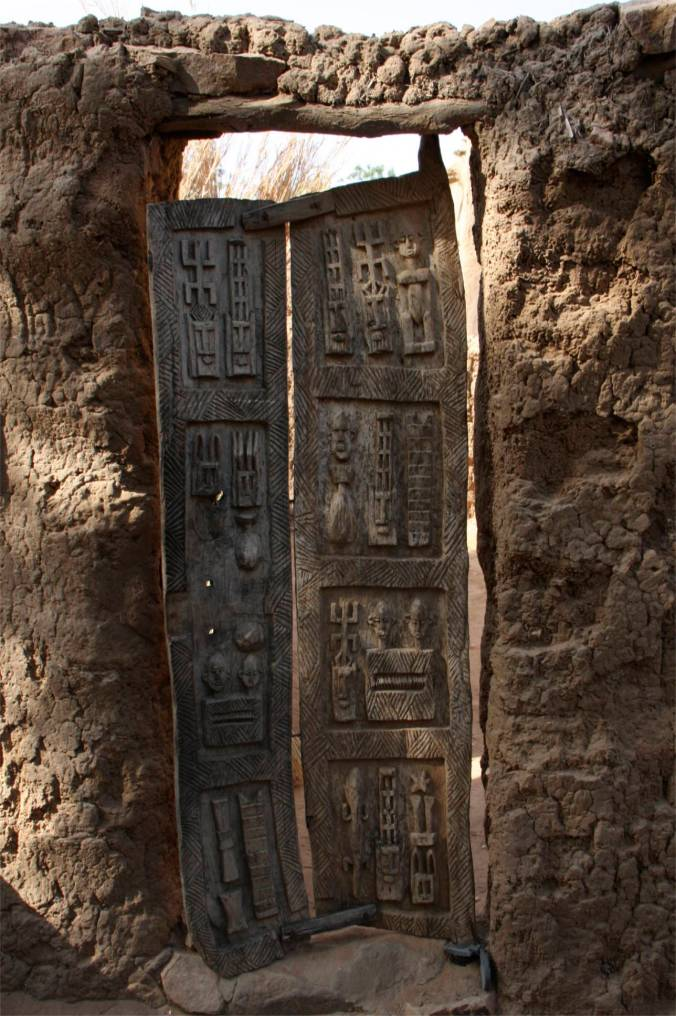 Carved door, Enndé, Dogon Country, Mali, Africa