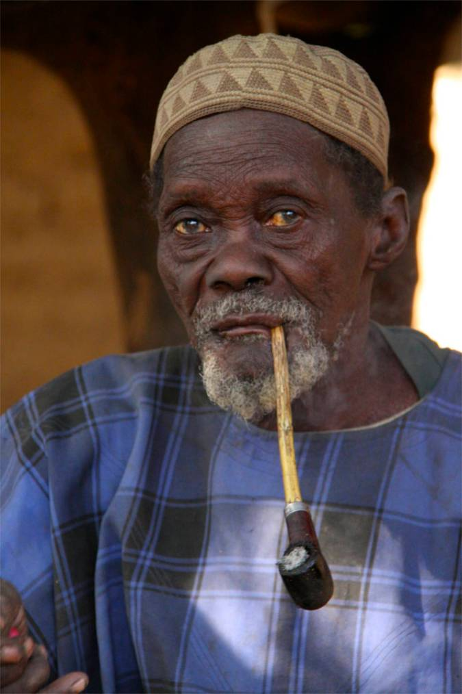 Village elder, Dogon region, Mali, Africa