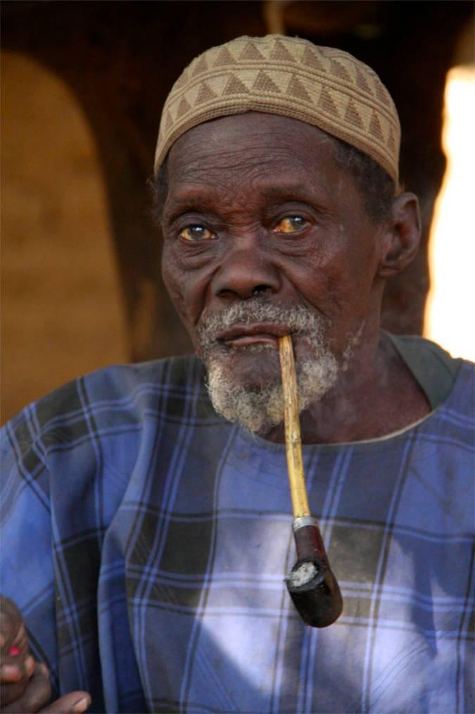 Village elder, Dogon region, Mali, Africa
