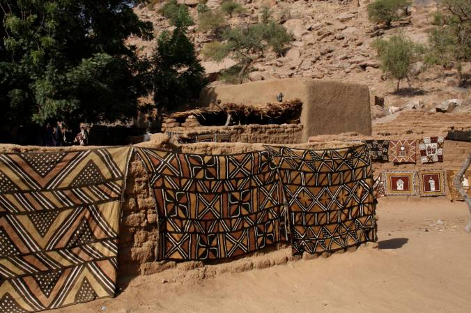 Traditional woven cloth, Enndé, Dogon Country, Mali, Africa