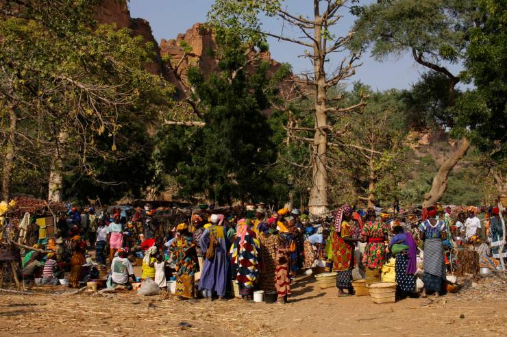 A market in the Dogon Country, Mali, Africa
