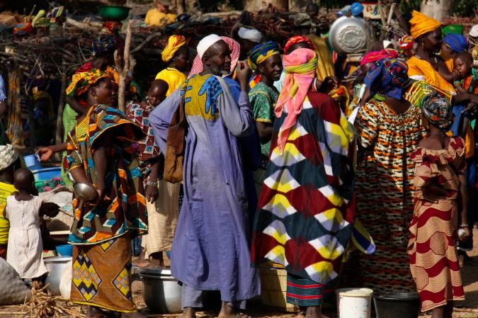 Market, Dogon region, Mali, Africa