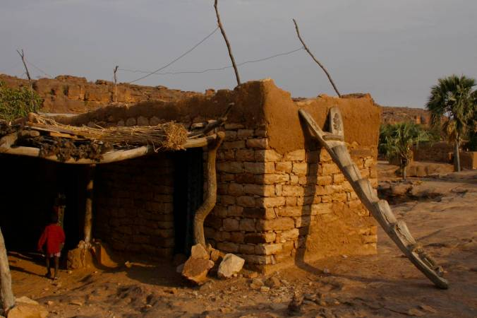 Room with a view, Begnemato village, Dogon Country, Mali, Africa