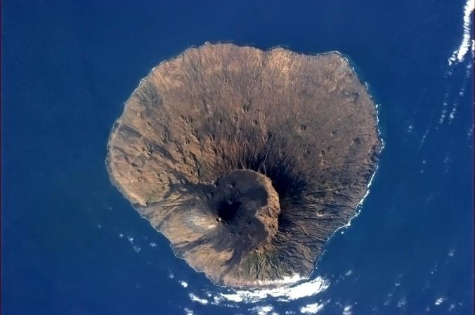 Fogo seen from the International Space Station, Fogo, Cape Verde, Africa