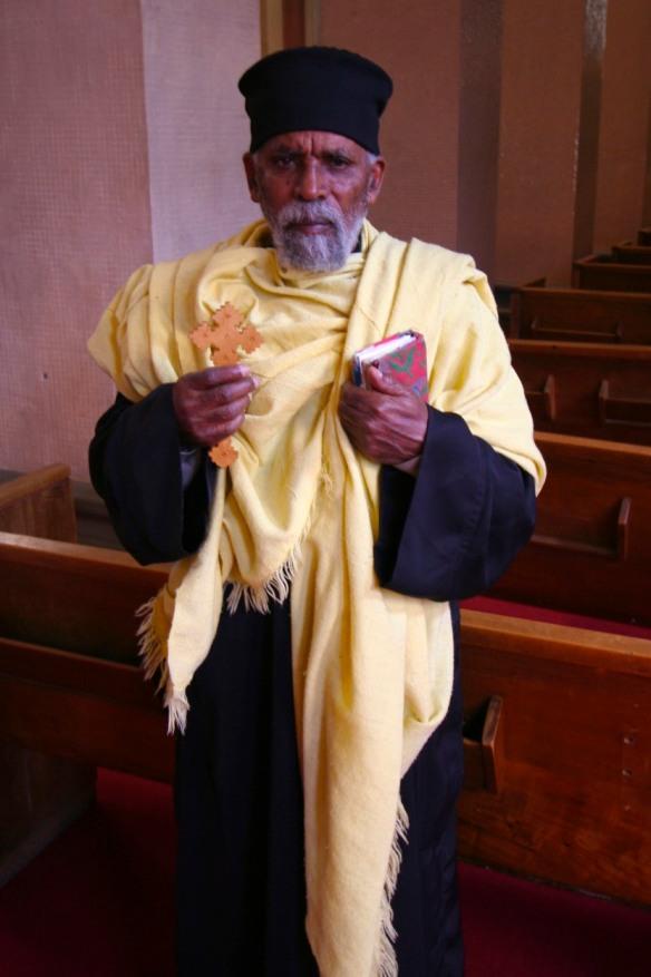 Ethiopian Coptic priest, Addis Ababa, Ethiopia, Africa