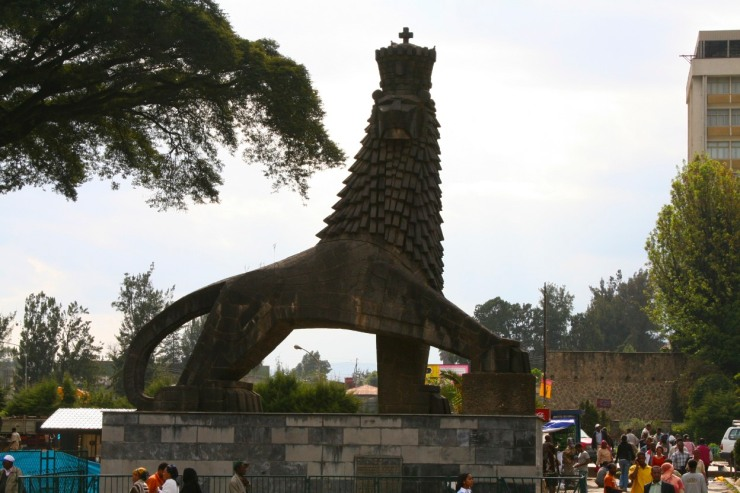 A lion in Zion, Addis Ababa, Ethiopia, Africa