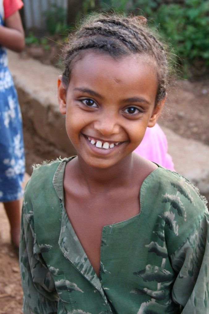 Young girl in a village near Bahir Dar, Ethiopia, Africa