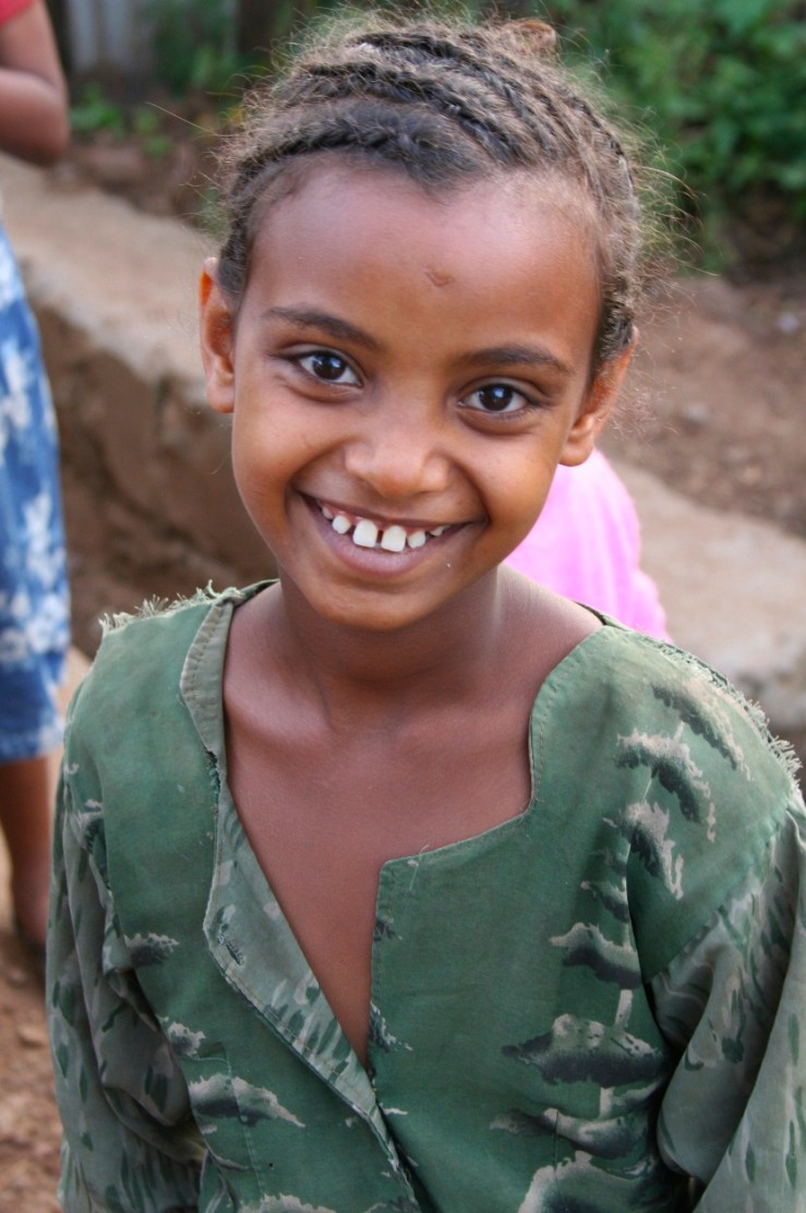 Young girl near Addis Ababa, Ethiopia, Africa