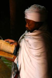 Ethiopian Coptic priest in Lalibela, Ethiopia, Africa