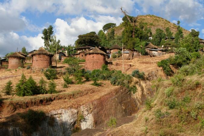 Ethiopian houses in Axum, Ethiopia, Africa