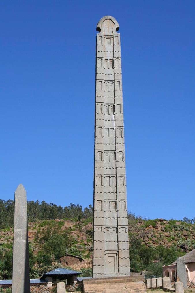 Ancient stelae in honour of King Ezana, Axum, Ethiopia, Africa
