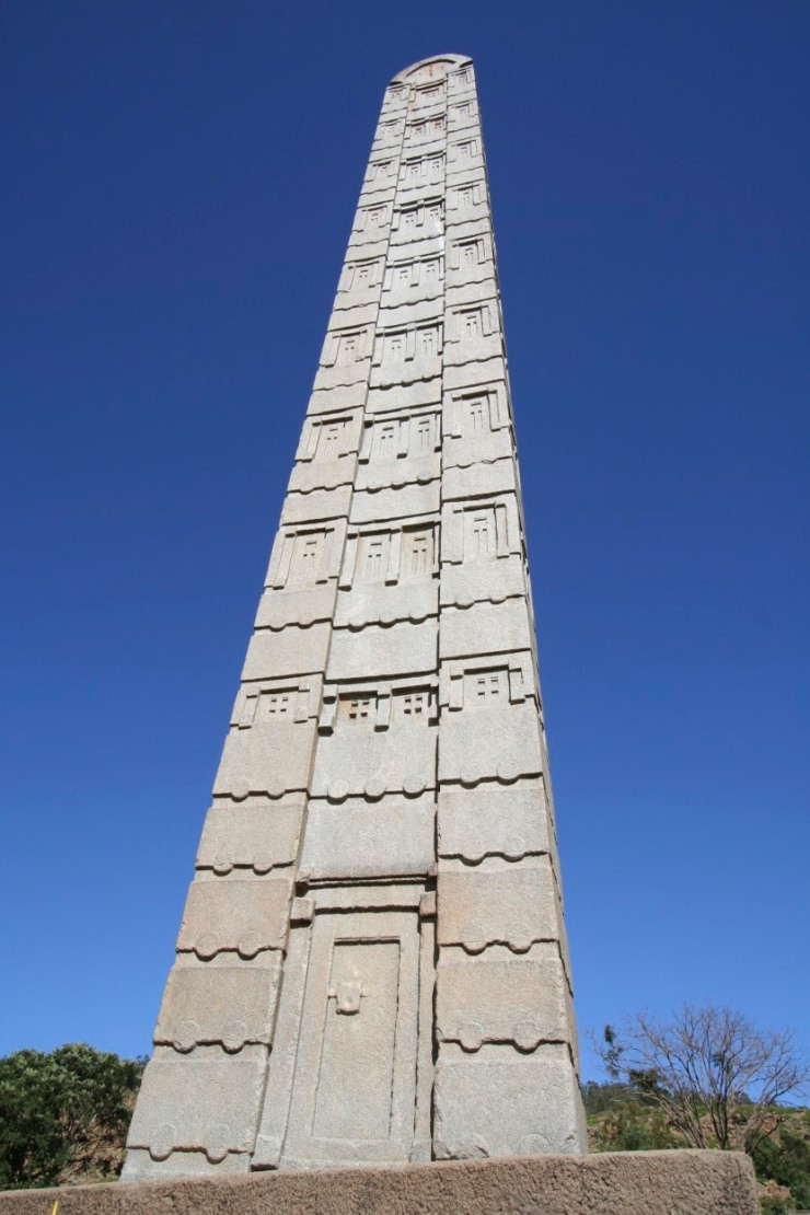 Ancient stelae in Axum, Ethiopia, Africa