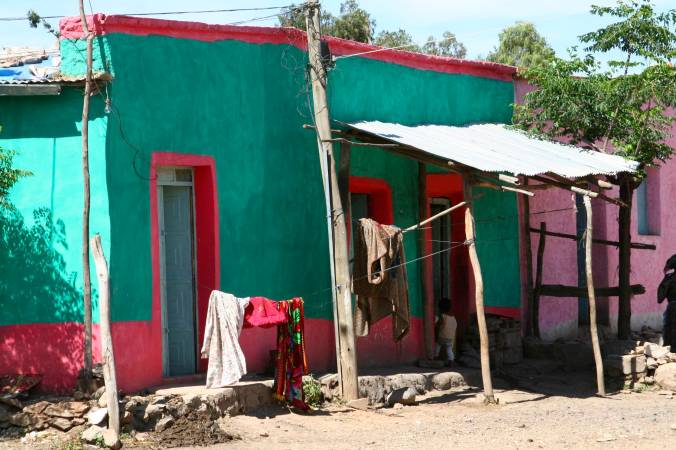 Typical house in Axum, Ethiopia, Africa