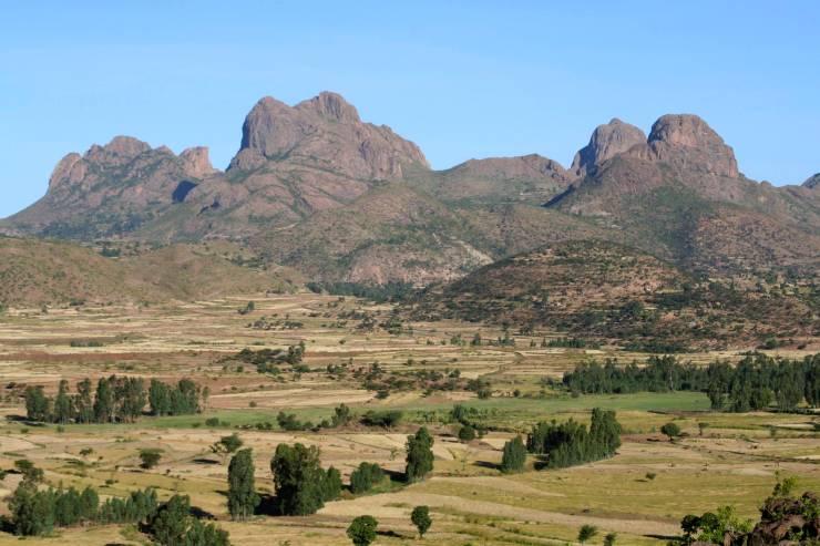 Landscape near Axum, Ethiopia, Africa