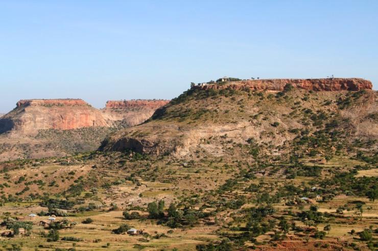 Debre Damo Monastery on a hilltop in Tigray region, Ethiopia, Africa