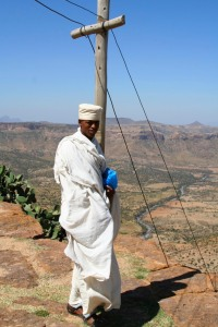 Young priest, Debre Damo Monastery, Ethiopia, Africa