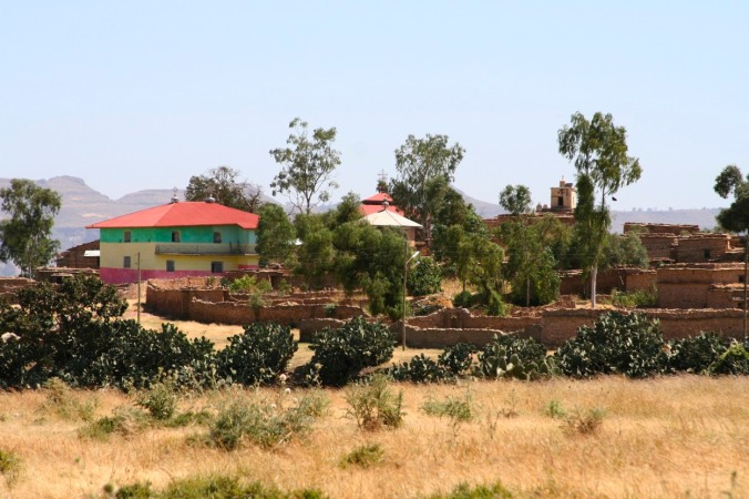 The village near Debre Damo Monastery, Ethiopia, Africa