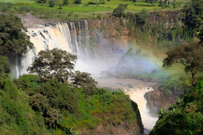 The Blue Nile waterfalls, one of the origins of the River Ethiopia, Africa