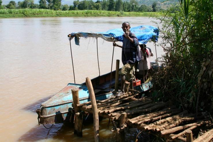 Boat on the Blue Nile, Lake Tana, Ethiopia, Africa