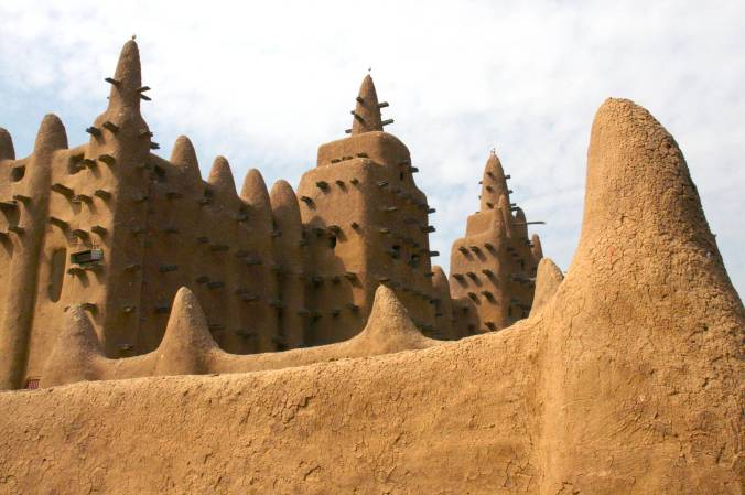 The Grand Mosque in Djenne, Mali, Africa