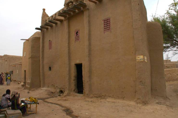 Sudanese-style house in Djenne, Mali, Africa