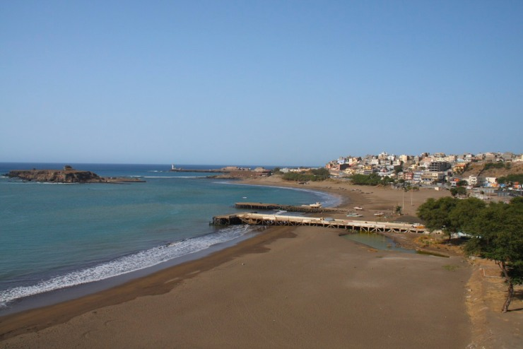 The waterfront in Praia, capital of Cape Verde, Africa