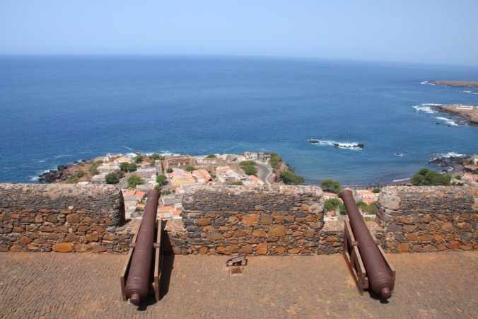 The view from the Portuguese fort, Cidade Velha, Cape Verde, Africa