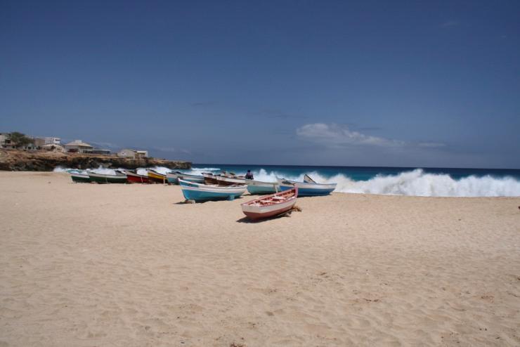 The beach at Vila do Maio, Maio, Cape Verde, Africa