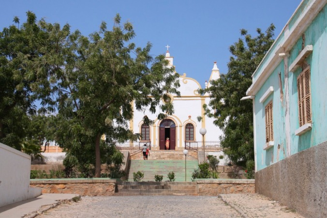 The church in Vila do Maio, Maio, Cape Verde, Africa