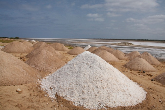 The salt pans on Maio, Cape Verde, Africa