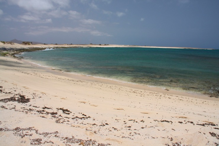Secluded bay on Maio, Cape Verde, Africa