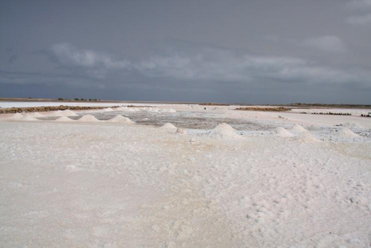 The salt pans on Maio, Cape Verde, Africa
