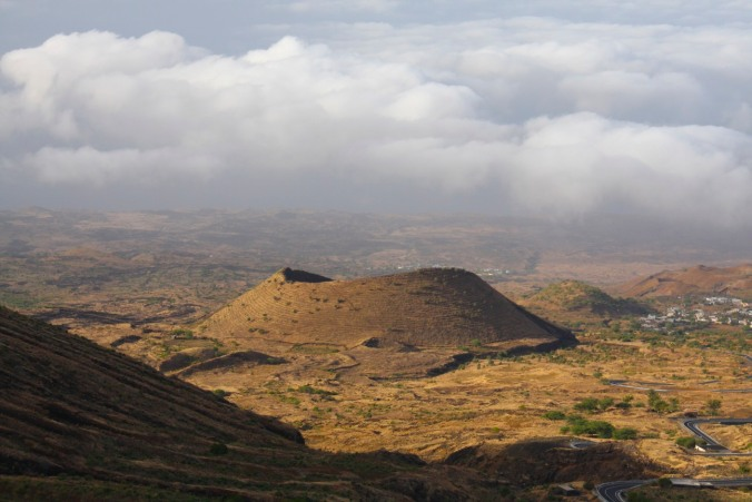 Volcanic landscape of the island of Fogo, Cape Verde, Africa