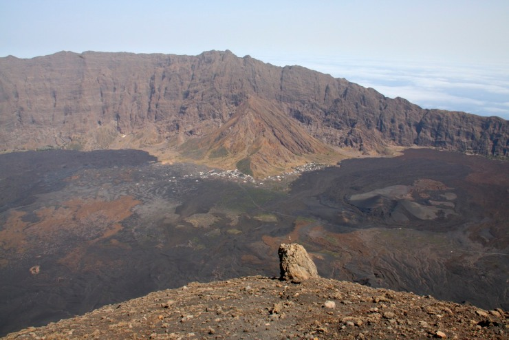Lava flows in the crater, Pico do Fogo, Fogo, Cape Verde, Africa