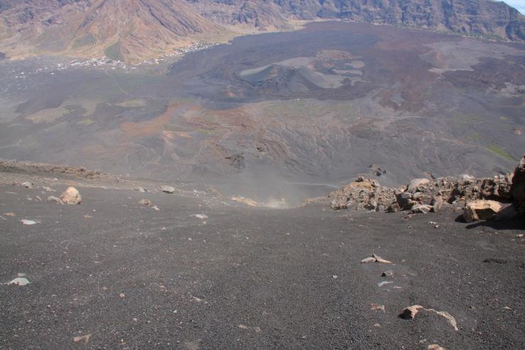Descending from Pico do Fogo, Fogo, Cape Verde, Africa