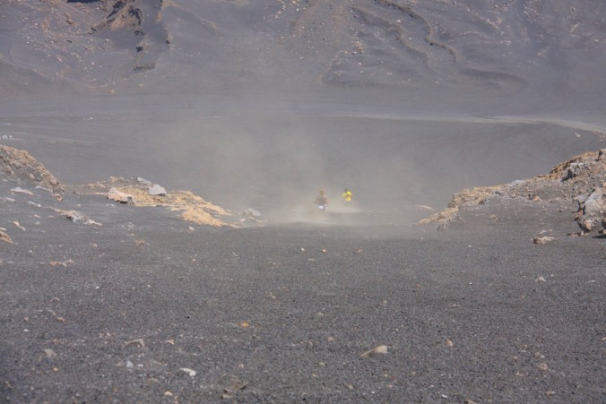 Descending from Pico do Fogo, Fogo, Cape Verde, Africa