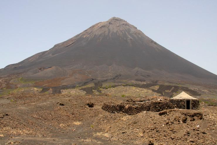 Volcanic landscape of the island of Fogo, Cape Verde, Africa