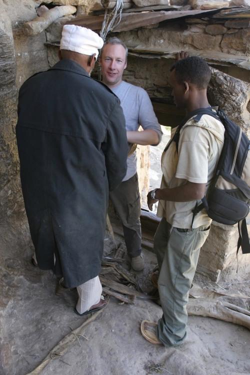 Nervous, Moi? Leaving Debre Damos Monastery, Ethiopia, Africa